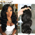 QT 100% Human Hair Weaving Soft And Thick Malaysian Body Wave 8A Unprocessed Virgin Hair Wavy Human Hair Weave 3 Bundle Deals