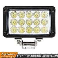 6 Inch 12V 24V 6000K 45W Waterproof LED Car Work Light For Truck Trailer 4x4 4WD
