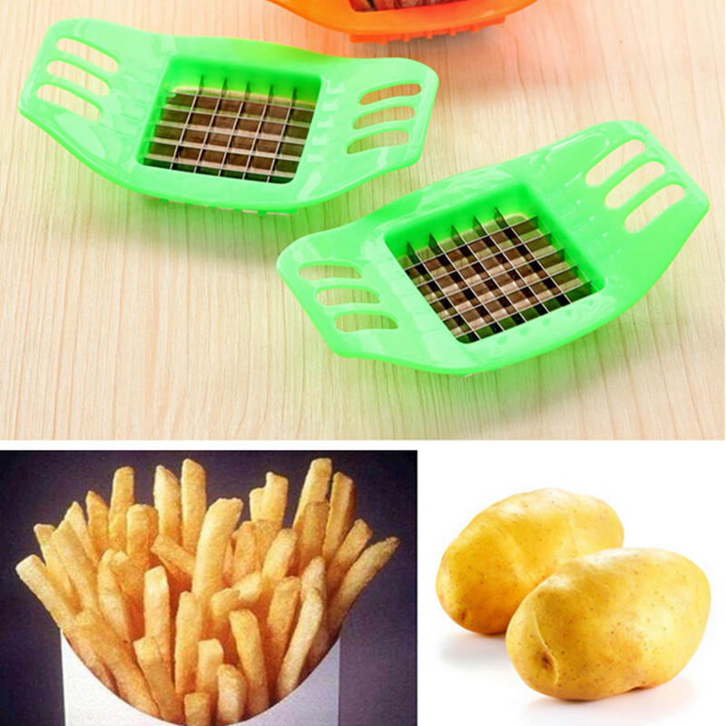 Affettatrice per patate in acciaio inox Tagliapasta Chopper Chips Making Tool Potato Cutting Fries Tool Accessori cucina