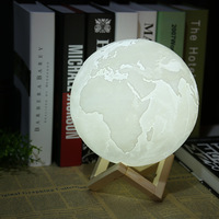 3D Light Print Earth Lamp Jupiter Lamp Colorful Moon Lamp Rechargeable Change Touch Usb Led Night