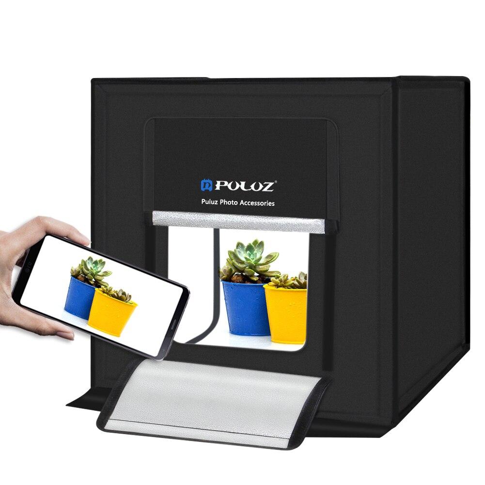 40x40 cm Photo Portative D'éclairage de Studio Mini softbox lightbox Dimmable Led Boîte à lumière Photographie Toile De Fond Tente De Tir Kit ROYAUME-UNI