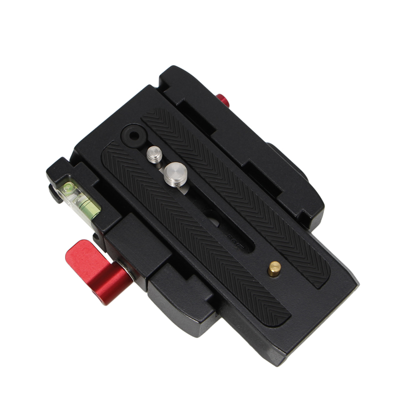 SIV 1 PC Quick Release Clamp Adapter QR Plate Base P200 Fr Manfrotto 500 500AH 701HDV 577
