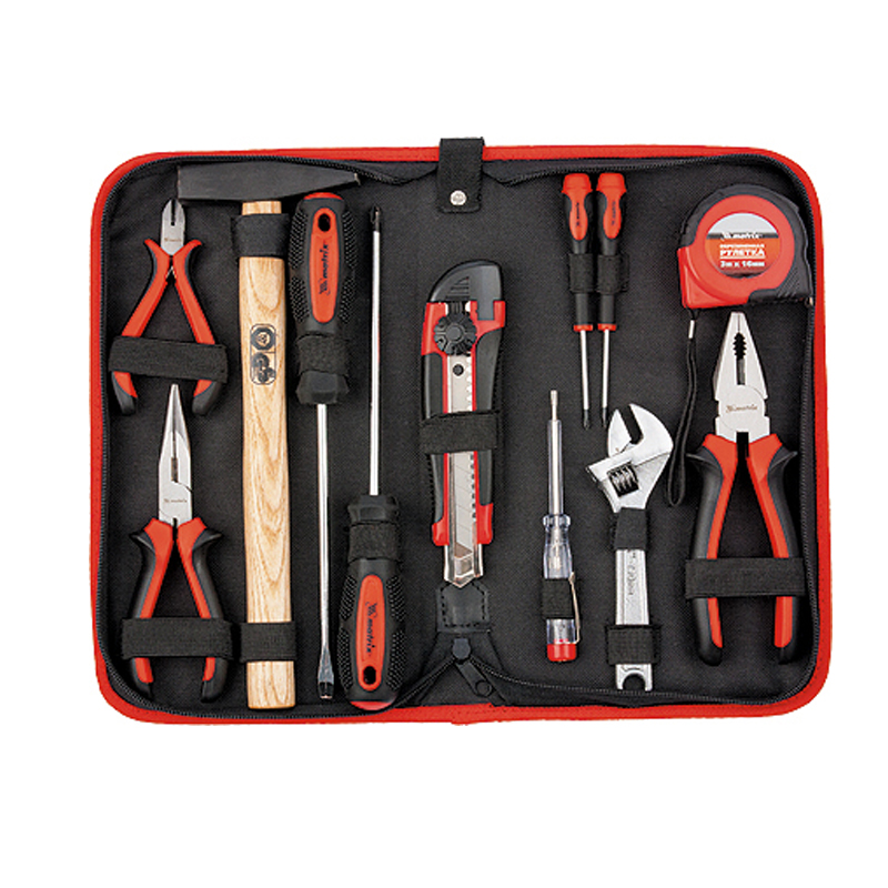 Hand tool set MATRIX 13562 deko tz53 household tool set auto repair mixed tool combination package hand tool kit with plastic toolbox storage case 53 pcs