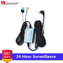 Junsun F20 DC 12/24V 5V 3A 3M Mini USB Hard wire Hardwire Kit for Dash Cam Reaview Mirror Camera GPS Car Charger Auto Charging(China)