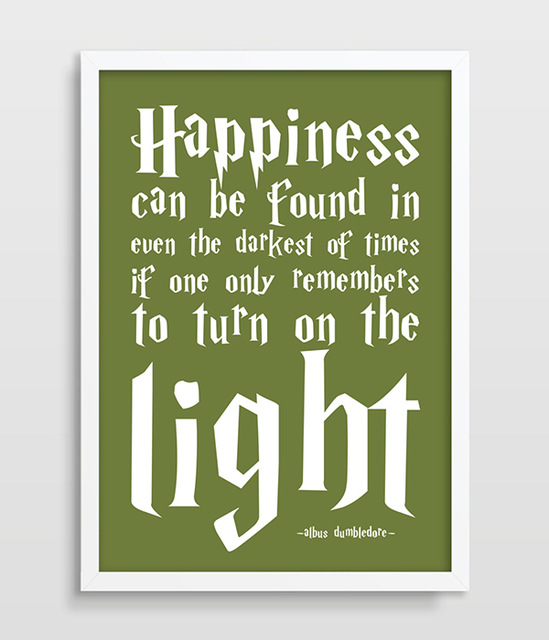 Harry Potter Inspirational Quotes: Harry Potter Poster Albus Dumbledore Quote Happiness Can