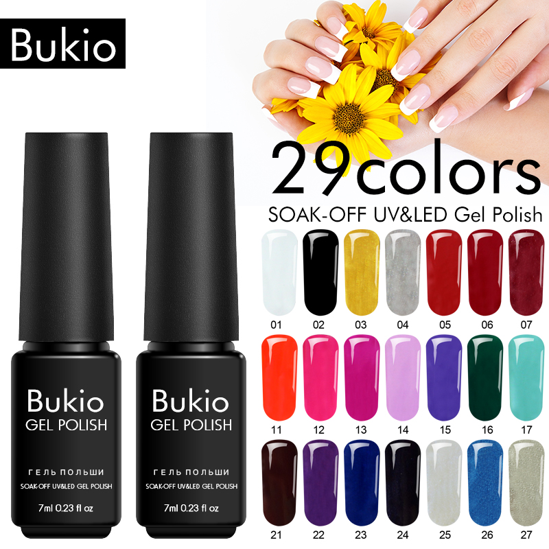 Bukio Semi Permanente 29 Colors Uv Gel Nail Polish Manicure