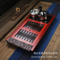Four combinations of rosewood ebony clouds carved tea tray cooker pumping station New Features tea sea