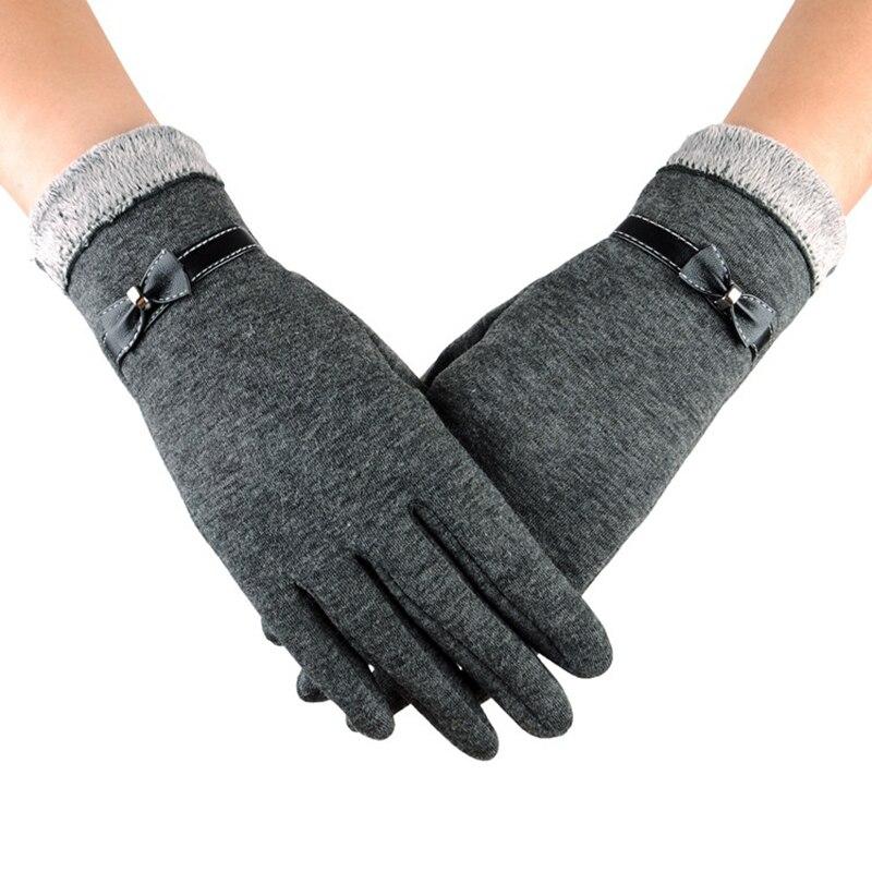 1 Pair New Fashion Autumn Winter Gloves for Women Suede ...
