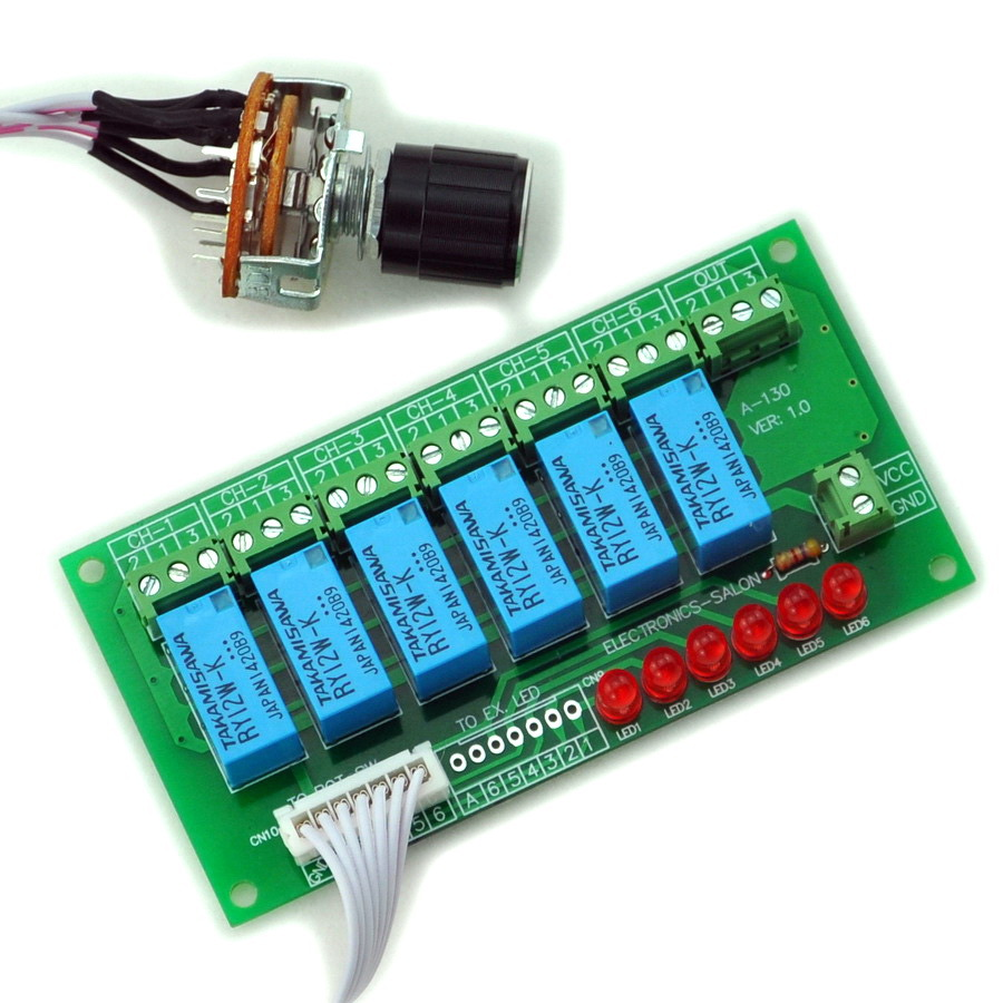 Electronics-Salon 6 Channel Unbalanced Stereo Or Balanced Mono Audio Input Selector Relay Module