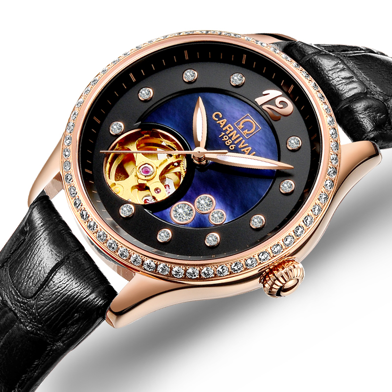 Women Watches Carnival Luxury Brand Watch Women Automatic Mechanical Wrist Watch Sapphire Waterproof relogio feminino C0682-3Women Watches Carnival Luxury Brand Watch Women Automatic Mechanical Wrist Watch Sapphire Waterproof relogio feminino C0682-3