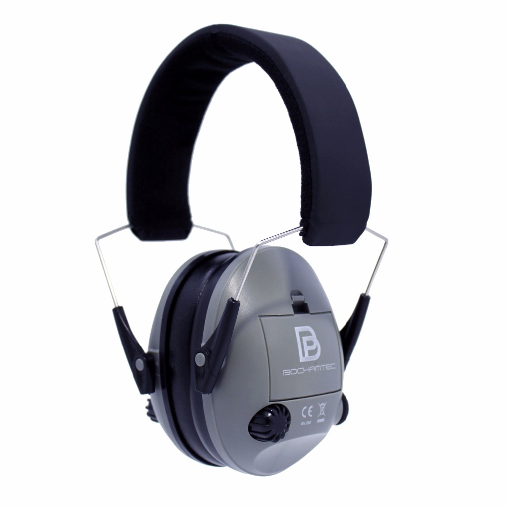 Bochamtec Lobito Electronic Shooting Earmuff grey Nrr 23db,noise Reduction Sound Amplification Electronic Safety Ear Muffs