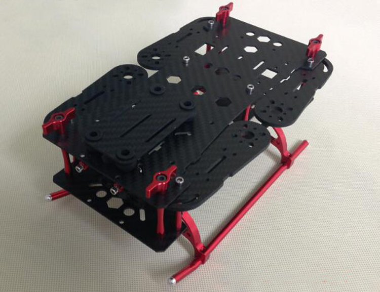 Yuenhoang QAV250 Folding Frame 3K Pure Carbon Fuselage Braket with Plastic/Metal Foot Frame for Mini FPV Quadcopter Accessaries