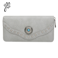 Long Vintage Style Wallet Women Big Leather Wallet Fashion Cool Lady Purse Brand Card Holder Clutch