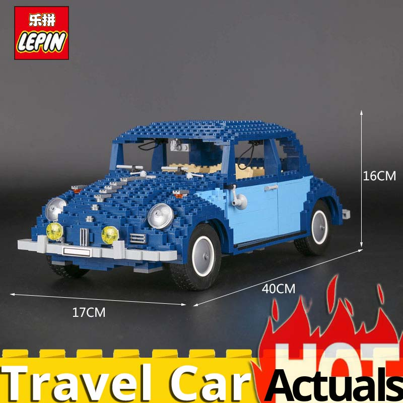 Lepin Technic Classic 21014 The Ultimate Beetle Car Set 1707Pcs 10187 Educational Building Blocks Bricks Toys For children Gifts new lepin 23015 science and technology education toys 485pcs building blocks set classic pegasus toys children gifts