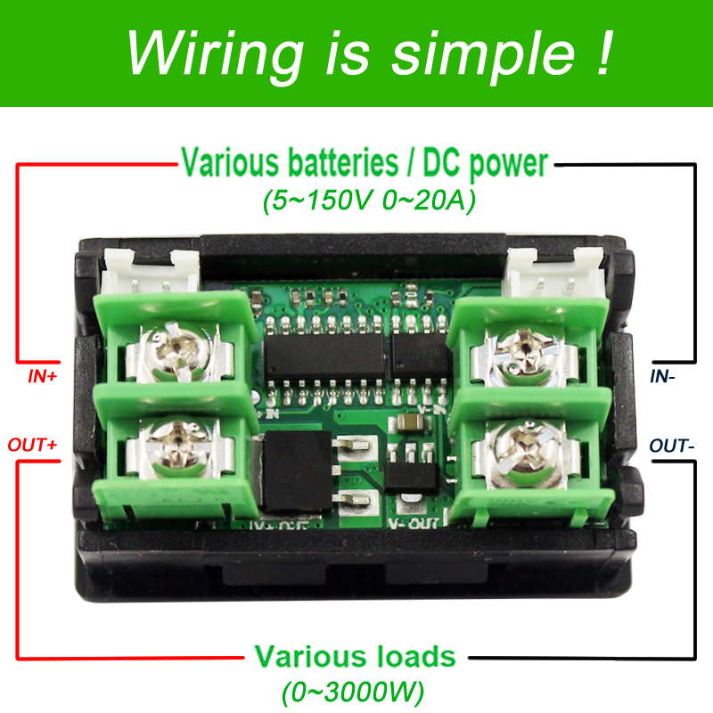Medidores de corriente CC ATORCH voltímetro digital amperímetro - Instrumentos de medición - foto 2