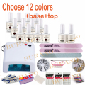 Burano choose 12 colors uv lamp nail tools manicure kits sets uv gel polish nail art tools KIT 001 15ML new 120colors