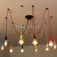 Colorful Silicone Pendant Lights E27 Holder AC90 260V Modern Fashion DIY Design Creative Pendant Lamps 100cm Cord Ceiling Base