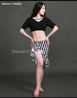 Professional Belly Dance Set Suit For Women Belly Dance Clothes Set 2pcs T Shirt Short Skirt