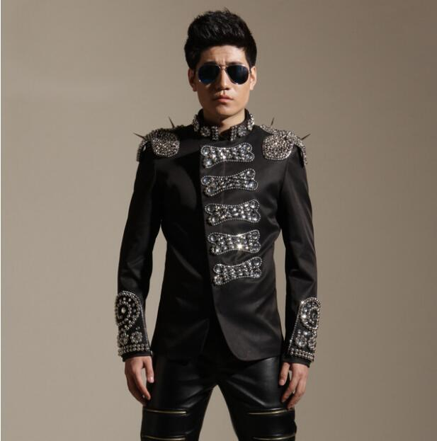 Men Plus панк өнімі жұқа пиджак моншақ - Ерлерге арналған киім - фото 1