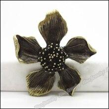 8 шт. винтажная подвеска в виде цветка, античная бронза, подходит для браслетов, ожерелья, сделай сам, изготовление металлических украшений