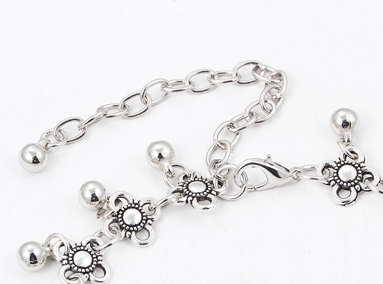HTB1o0pgMpXXXXahXFXXq6xXFXXX5 Sterling Silver Anklets - Stylish Women Silver Floral Anklet Foot Chain Jewelry With Charms