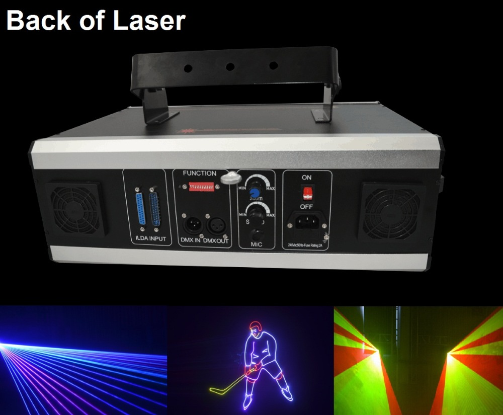 Free shipping 3W Laser Light 3000mW RGB White Mix Animation Beam - Commercial Lighting
