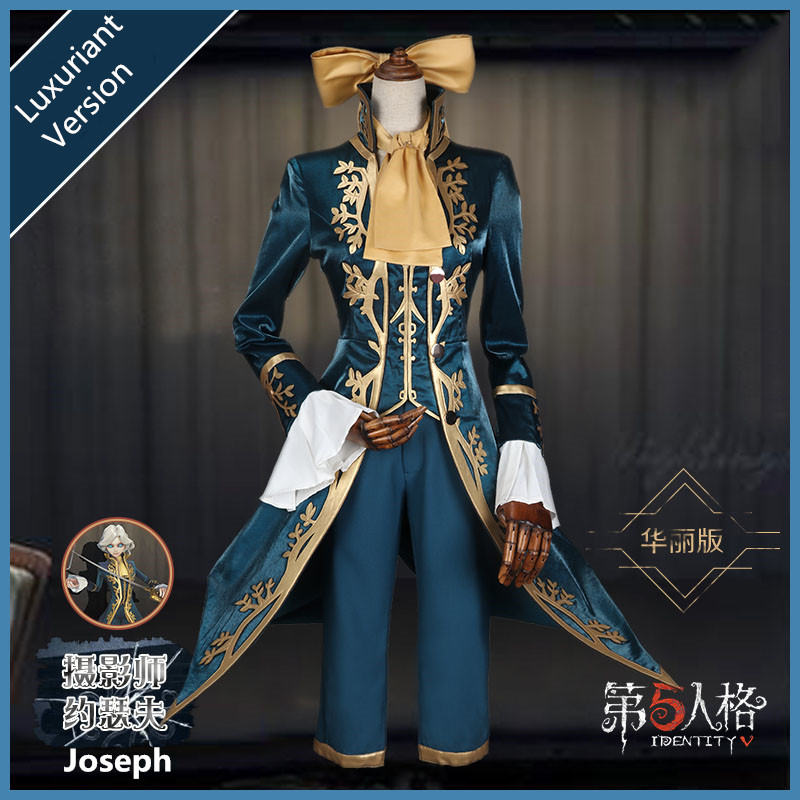 Anime! Identity V Joseph Cameraman Original Skin Uniform Cosplay Costume For Halloween Stage Performance Suit New Free Shipping