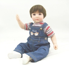 Pursue 24″/ 60 cm Collectible Baby Alive Fake Silicone Baby Dolls for Sale Reborn Toddler Boy Baby Doll Toys for Child Boy Girl