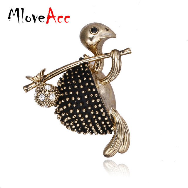 MloveAcc Vintage Style Walking Tortoise Brooch Women Kids Clothes  Accessories Crystals Turtle Animal Brooches Suit Corsage Pins 4619f07c37cf