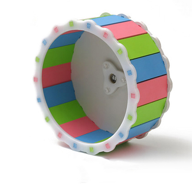 Small Pets Guinea Pig Hamster Wheel Silent roller Running Sports Round Wheel Hamster Cage Accessories Exercise Wheel for Pet Toy