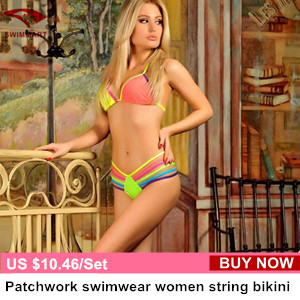 Triangle swimwear bikinis set string multicolor string