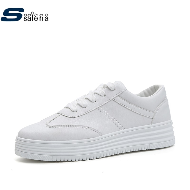 Platform Shoes Women Breathable New Fashion Women Vulcanize Shoes Spring Autumn Breathable Driving Shoes AA40330