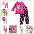 Горячие продажи детей детские пижамы пижаме девушка костюм детские теплые нижнее белье новорожденных девочек пижама наборы зима мультфильм одежда пижамы