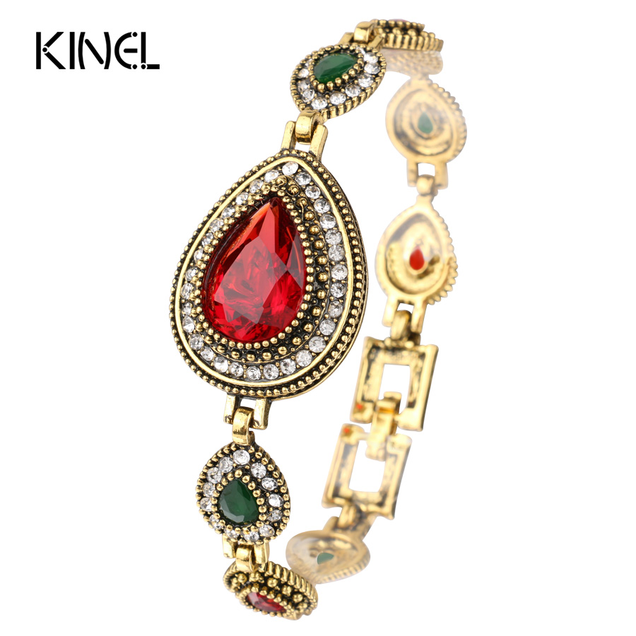 Indian Jewelry Red Crystal...
