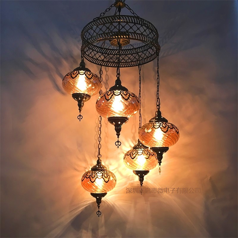 3/5 Heads Turkey ethnic customs Pendant lamp romantic Hotel cafe restaurant bar Pendant light living-room balcony stairs lampe light the mediterranean restaurant in front of the hotel cafe bar small aisle entrance hall creative pendant light df57