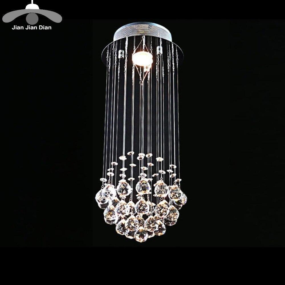 Upscale Lighting Fixtures: JJD Modern K9 Crystal Chandelier Led LightingAC110V 256V