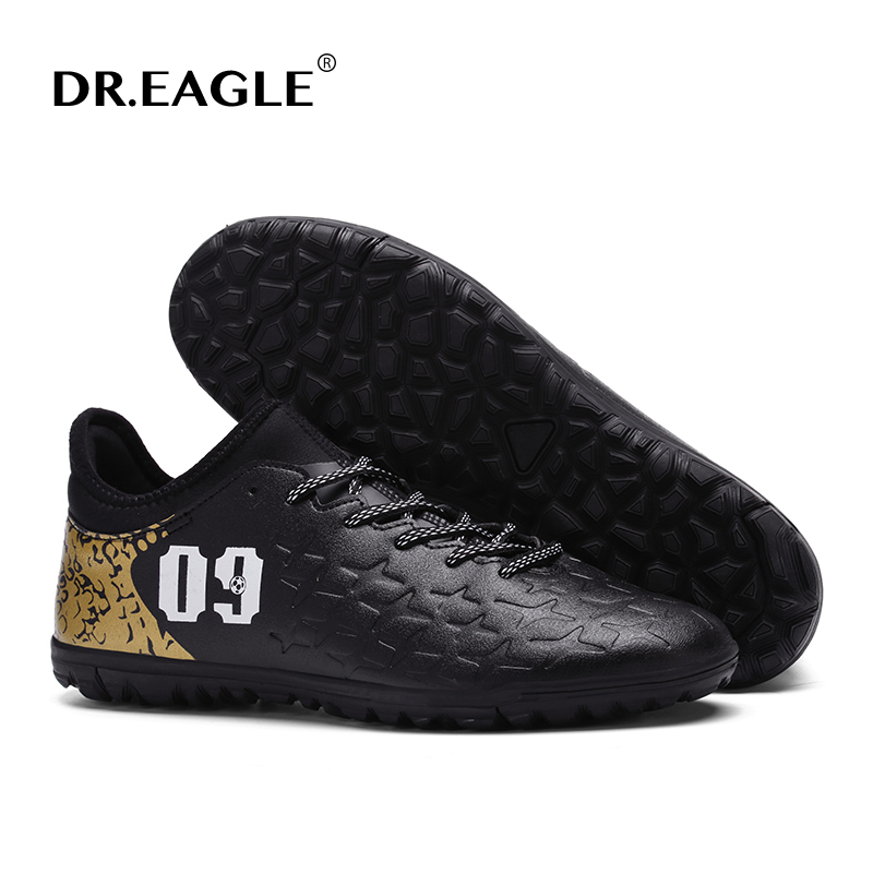 Men's DR.EAGLE Indoor turf crampon original futsal futzalki soccer cleats football shoes boots superfly sneakers boot de soccer health top soccer shoes kids football boots cleats futsal shoes adult child crushed breathable sport football shoes plus 36 45
