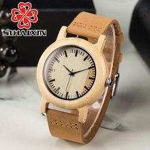 2017 Brand Women's Wooden Geneva Bracelets Watch With Wood Watches For Ladies Leather Quartz Casual Retro Wristwatch Feman Clock