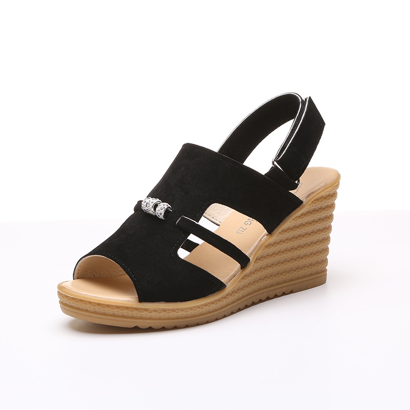 2017 Summer shoes woman Platform Sandals Women Soft Leather Casual Open Toe Gladiator wedges Women Shoes 2017 gladiator summer shoes woman platform sandals women flats soft leather casual open toe wedges sandals women shoes r18
