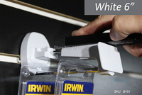50 шт. белый черный пластик дисплей безопасности крючки для экономпанели кр для отображения