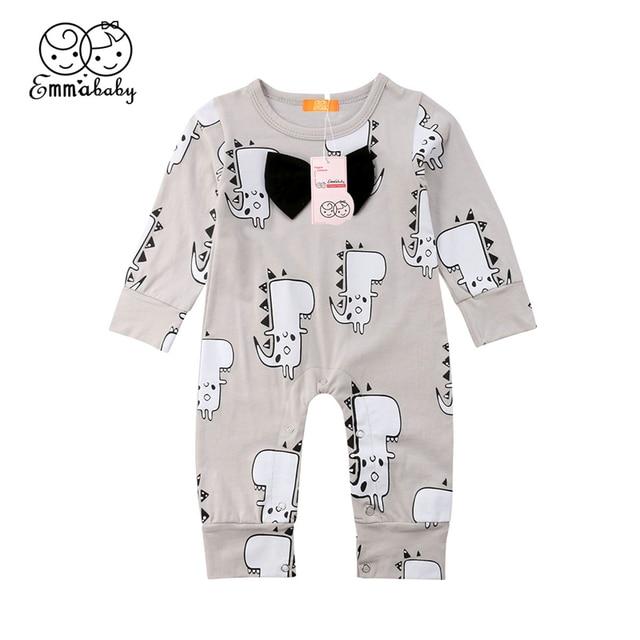 e772d1037c98 0 24M Newborn Baby Boy Romper Toddler Kid Dinosaur Long Sleeve ...