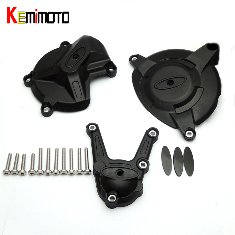 KEMiMOTO Racing Engine Cover Protector Guard Set for BMW S 1000 RR HP4 2009 2010 2011 2012 2013 2014 2015 Motorcycle Parts