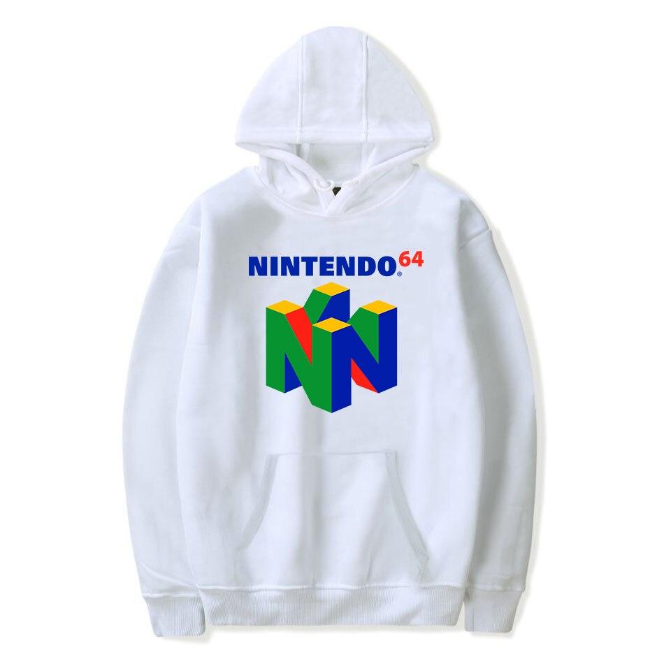 Image 2 - 2019 New Brand Classic Game N64 Printing Hooded Sweatshirt Harajuku Hoodies Large Size Pullover Clothing Hip Hop Streetwear-in Hoodies & Sweatshirts from Men's Clothing