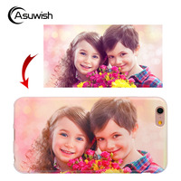 Asuwish Custom Case Gift Diy Photo Name Soft Cover TPU Silicone Phone Case For Samsung Galaxy