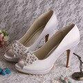 Custom Made personalizado de alta qualidade princesa sapatos de casamento da noiva de salto alto bombas de noiva
