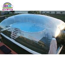 Индивидуальный купол палатка прозрачный пузырь Надувной Бассейн Крышка для зимы