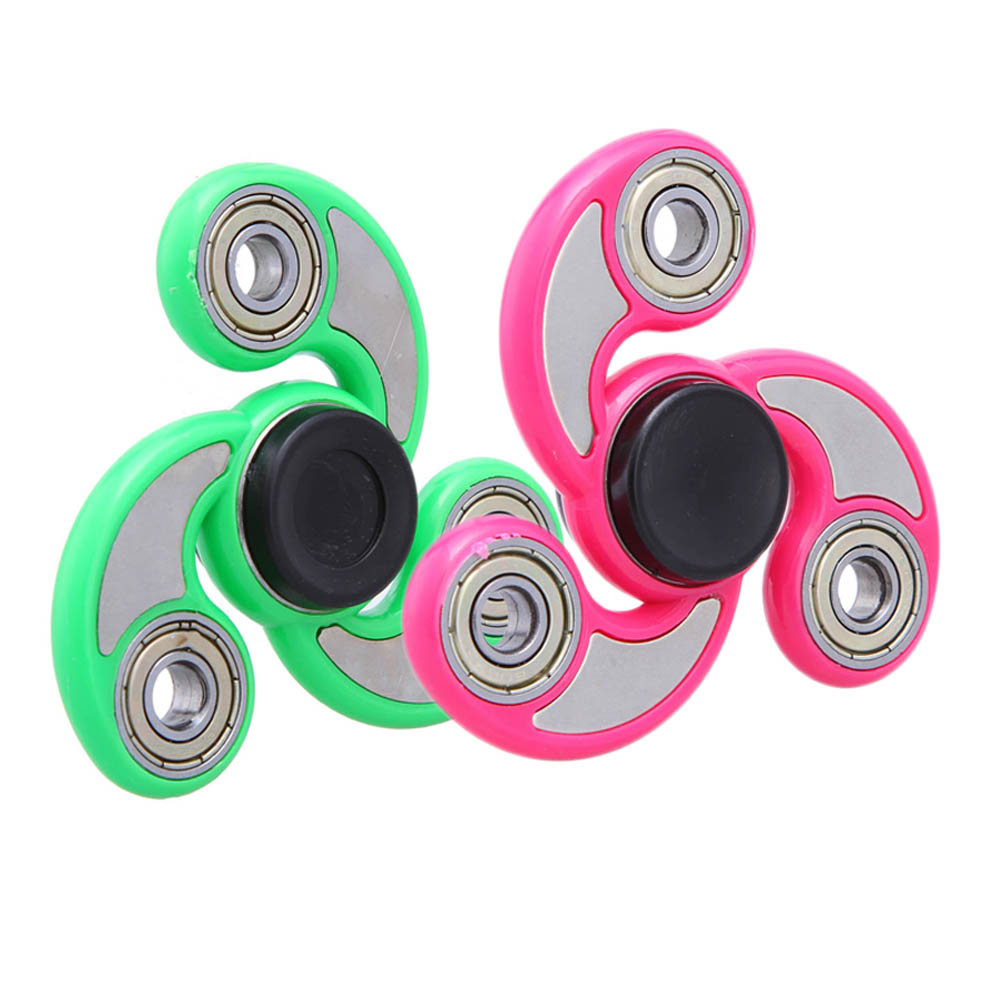 6 Colors Finger Spinner Fidget ABS EDC Tri-Spinner Tri For Kids Autism ADHD Anxiety Stress Relief Focus Spiner Toys Gift