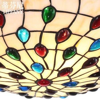 Lámpara De Techo Estilo Europeo, Luz De Techo Mediterránea, Sala De Estar, Comedor, Dormitorio, Lámpara De Cristal, Luz LED Romántica Para Balcón
