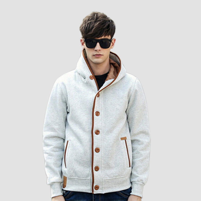 Plus Size 2016 Autumn Winter Fashion Men Fleece Elbow ...