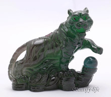 Green Tiger, Lucky Charms, Chinese zodiac, Shenxiao,Allochroic Mascot, fengshui Ornament,novel gifts, Tea pet, S1015Ahu(China)
